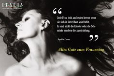 Alles Gute zum #Frauentag - www.Italia.it  #ItaliaIT #Sophia #Loren #Italien