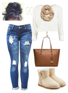 """""""untitled 122"""" by bellexo12 on Polyvore featuring UGG Australia, Halogen, River Island, MICHAEL Michael Kors and Sterling Essentials"""