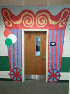 Find more inspiring images about circus door decorations on our site.