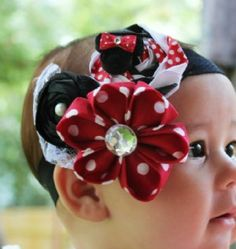 Minnie Mouse headband! Love it!