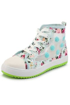 Floral Mesh High-tops