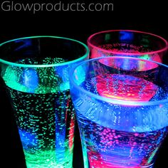 Light Up Glowing Drink Glasses & Accessories http://glowproducts.com/barglowproducts/