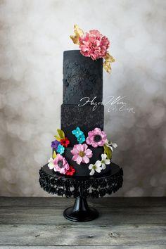 """Lady in Black"" Zuhair Murad Fashion Inspired Cake by Hazel Wong Cake Design"