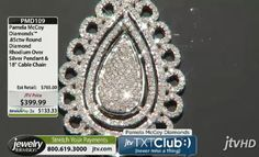 Pamela Mccoy Diamonds(Tm) .85ctw Round Diamond Rhodium Over Silver Pendant & 18 Inch Cable Chain ERV: $765.00 JTV Price: $399.99