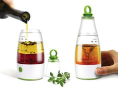 All-In-One Dressing Mixer - to measure,  make and serve homemade salad dressing.