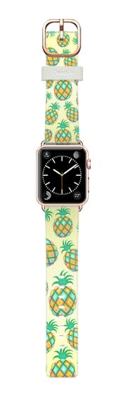 Casetify Apple Watch Band (38mm) Casetify Band - Pineapple Pastel Colors Pattern by BluedarkArt #Casetify