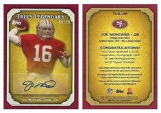 Joe Montana 2013 Topps TLA-JM Truly Legendary AU (Rainbow) (#08/20)