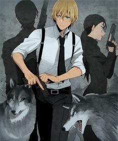 Bourbon and Okiya Subaru. Anime Guys, Manga Anime, Anime Art, Super Manga, Detective Conan Shinichi, Best Anime Shows, Detective Conan Wallpapers, Gosho Aoyama, Kaito Kid