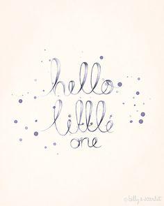 Baby Nursery Art 8x10 Print 'Hello Little One' by BillyandScarlet, $20.00