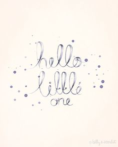 Baby Nursery Art 8x10 Print 'Hello Little One' by BillyandScarlet, $20.00