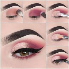 Makeup tutorial step by step - dress models - # eyeshadow looks . - Make-up tutorial step by step – dress models – Looks step by step the # - Makeup Eye Looks, Eye Makeup Steps, Cute Makeup, 80s Makeup, Dress Makeup, Glam Makeup, Sally Makeup, Teenage Makeup, Normal Makeup