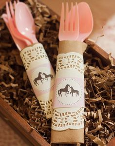 Pony Party (Utensils wrap) This idea is so cute! By Party Sprinkles