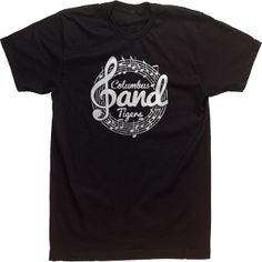 Band High School T-shirts Custom Design Tees Mascot Vintage Retro Treble Clef Music Notes