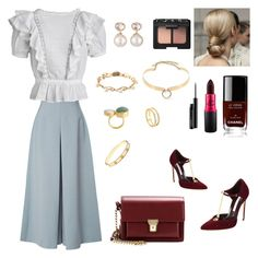 """""""Untitled #4"""" by manar-abdullah ❤ liked on Polyvore featuring Delpozo, Brian Atwood, Étoile Isabel Marant, Alexis Bittar, Samira 13, Yves Saint Laurent, Chanel, NARS Cosmetics, MAC Cosmetics and Cartier"""