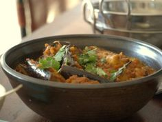 Low FODMAP, curried aubergine