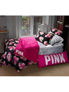 Dorm Comforters & Duvets - Twin, Queen & More - PINK