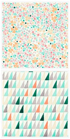 "Sweet Pastel Mix // Miraleste and La Venta 45"" Prints"