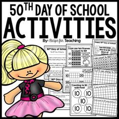 Celebrate the Day of School with some fun (and FREE) activities! Classroom Themes, School Classroom, Classroom Activities, Preschool Activities, Holiday Activities, Kindergarten Party, Kindergarten Science, Student Teaching, Teaching Ideas