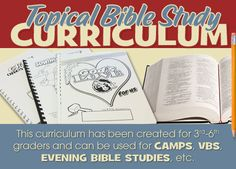 Topical Bible Study Curriculum - Free - for 3rd-6th graders - plan to use in homeschool!