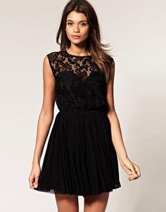 ASOS black lace dress