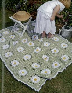 This crochet afghan is just right for the Spring or the garden lover!