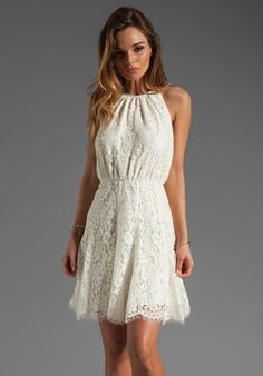 Juicy Couture dress from Revolve. Lace & white are so romantic.