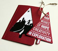 Moleskine ® - Create a gift that goes beyond words  Ornament note cards!!