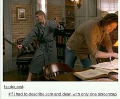 If I had to summarize Sam and Dean in only one screenshot/screencap, this would be it.