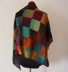 Entrelac shawl woman shawl wool shawl hand knit shawl by Bietas