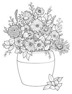 ★컬러링 도안★어른을 위한 색칠공부 - 꽃,부케 : 네이버 블로그