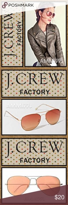🆕J. Crew Aviator Sunglasses A design that's sleek and flattering to practically any face shape, the aviator is never out of style. In a smaller size with slightly softer curves, this pair's made with your feminine proportions in mind. These street style Aviators from J. Crew are a Summer time must-have! Don't leave home without them!   Details: 🕶Color: Copper Ocean 🕶Metal 🕶100% UV protection. 🕶Cloth case included. J. Crew Accessories Sunglasses