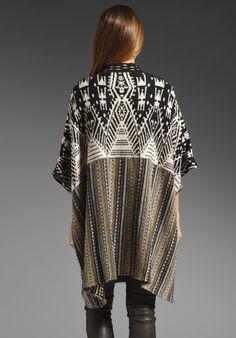ANTIK BATIK Yucca Poncho in Multi - Sweaters & Knits