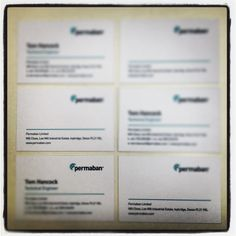 Hot of the press: Business card re-runs for Permaban