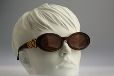 Gianni Versace Mod 527 C col 900 / Vintage sunglasses / NOS / 90s and all time being luxury! by CarettaVintage on Etsy