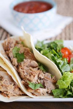 "Slow Cooker Pork Carnitas | Mel's Kitchen Cafe - ""Amazingly simple and delicious dinners like these pork carnitas restore faith in my ability to actually get dinner on the table!"""
