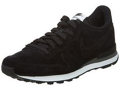 Nike Internationalist Leather Mens 631755-010 Black Grey Running Shoes Size 6