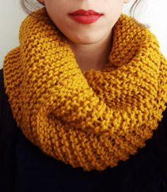Mustard Yellow Cowl Infinity Scarf by ADifferentFashion