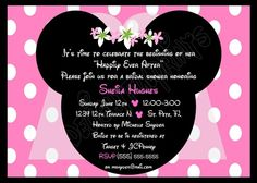 Minnie Mouse inspired bridal shower invite