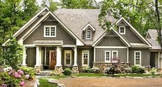 Best Exterior Paint Colors For House With Brown Roof Floor Plans Ideas Craftsman Cottage, Craftsman Style House Plans, Cottage House Plans, Cottage Homes, Craftsman Houses, Cottage House Styles, Cozy Cottage, French House Plans, Best House Plans