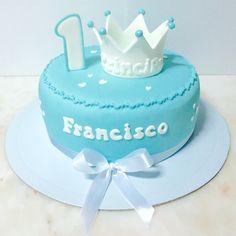 1 aniversario 1 bday Príncipe Bolo Menino Cake Boy