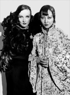 Anna May Wong and Marlene Dietrich, 1932, in a still from Shanghai Express