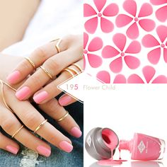 195 Flower Child A fabulous bright pink, perfect for pairing with your full length goddess gown, just the ticket for a summer wedding. Bio Sculpture Gel Nails Summer, Bio Sculpture Nails, Luv Nails, Pretty Nails, Spring Nails, Summer Nails, Bio Gel Nails, Summer Wedding, Dream Wedding