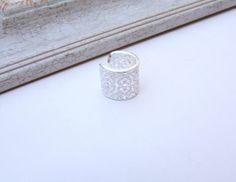 Silver Wide  ring, Band ring, Statement Ring, Filigree Ring,Gift under 30