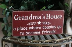 Grandma's house a place where cousins go to become friends