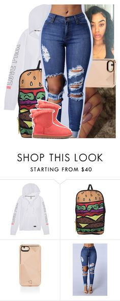 """"""""""" by theyknowtyy ❤ liked on Polyvore featuring Victoria's Secret, Rebecca Minkoff and UGG Australia"""