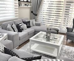 Grey and white living room grey lovers decorative pillows cushions living room decor living room grey . grey and white living room Living Room Grey, Small Living Rooms, Home Living Room, Apartment Living, Interior Design Living Room, Living Room Designs, Grey Living Room Curtains, Design Bedroom, Black White And Grey Living Room