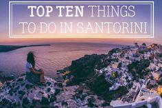 10 cosas que hacer en Santorini