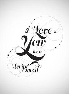 type & lettering by Javiera R. Benavente, via Behance