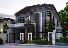 Ideas Modern Contemporary House Exterior Philippines For 2019 Architecture Classique, Architecture Design, Modern House Plans, Modern House Design, 3 Storey House Design, Philippine Houses, Philippines House Design, Storey Homes, Dream House Exterior