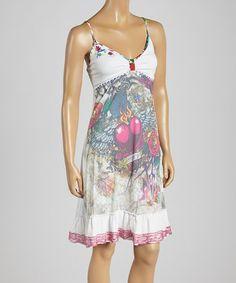 Look at this #zulilyfind! Purple & White 'Love You' V-Neck Dress - Women by KESSLEY #zulilyfinds